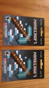 2-Minecraft Mojang Gift Cards in Moody AFB, Georgia