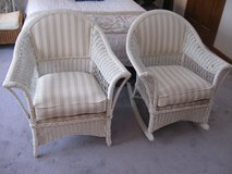 Cute Vintage Wicker Rocker and Chair-Reduced! in Lockport, Illinois