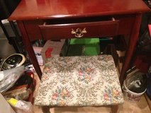 Cherry Desk or Dressing table, with upholstered stool in Okinawa, Japan