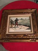 Antique painting on wood in Ramstein, Germany