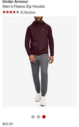 Mens New Under Armour burgundy hoodie in Lockport, Illinois