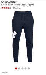 Mens New Under Armour joggers in Lockport, Illinois