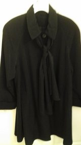 Womens  Size Medium  Black Dress Coat Light Weight In Excellent condition in Joliet, Illinois