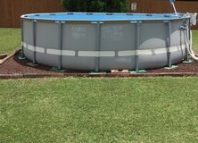 18 x48 Intex Ultraset pool with Sand Saltwater chlorinator/pump, and automatic pool cleaner in Byron, Georgia