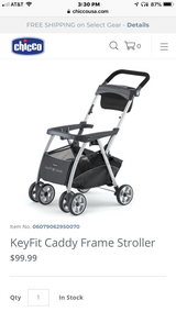 Brand New / In Box Chicco KeyFit Caddy Baby Stroller (Car Seat Carrier) in Bolingbrook, Illinois