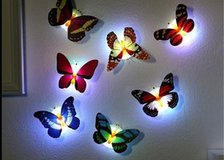 5PCS randomLED night light pat touch light emergency creative butterfly paste lamp small light o... in Moody AFB, Georgia