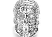 Titanium Stainless Steel Skull Ring Vintage Punk For Men Jewelry (Size10) in Moody AFB, Georgia
