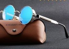 2017 Cool Gothic Steampunk Coating Mirrored Round Circle Sunglasses in Moody AFB, Georgia
