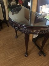 Rosewood entry table with hanging mirror in Okinawa, Japan
