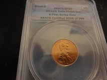 2008 d sp 69 satin finish first strike lincoln cent in Clarksville, Tennessee