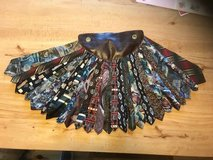 Art Piece: Japanese Fan made from Men's Ties in Naperville, Illinois