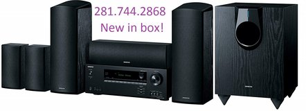 6 Onkyo Speakers & Receiver, New in box home theater surround sound package in Houston, Texas