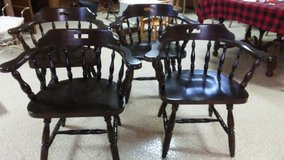 4 Solid Wood Captains Chairs in Plainfield, Illinois