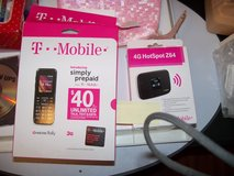 T-Mobile hotspot and cell phone. in Spring, Texas
