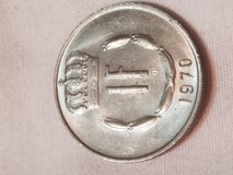 1970 1 Fanc Jean Grand-Duc Deluxenbour Collectible Coin Foreign Money Currency in Houston, Texas