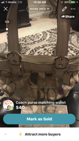 Coach purse and wallet in Fairfield, California
