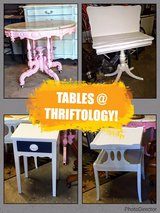 antique tables @ thriftology in Cherry Point, North Carolina