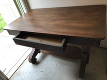 Antique Library Table in The Woodlands, Texas
