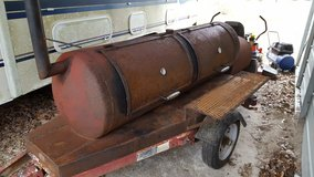 Custom Built Smoker With Traier/ Slide out Grates in Leesville, Louisiana