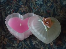 scented heart candle in Oswego, Illinois