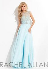 Sz 8 Worn once - Rachel Allan Blue Formal Pageant / Prom / Bridesmaid Dress in Westmont, Illinois