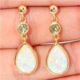 New - White Fire Opal and Peridot Gold Filled Earrings in Alamogordo, New Mexico