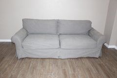 Gray Slip Covered Sofa in Houston, Texas