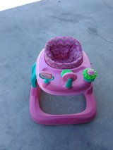 Pink baby walker in 29 Palms, California
