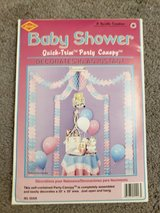 Baby shower table canopy decor in Fort Campbell, Kentucky