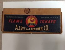 Vintage Flame Tokays Wood Crate in Plainfield, Illinois