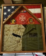 Military shadowbox in Camp Pendleton, California