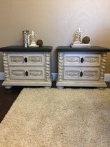 Off-White Distressed Night Stands in Houston, Texas