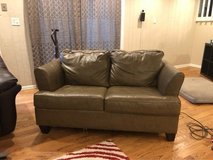 leather couch with twin sleeper in Chicago, Illinois