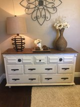 Distressed White Dresser/ Buffet in Houston, Texas