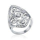 SUNDAY ONLY **BRAND NEW***Elegant Silver Cz Filigree Hearts Stainless Steel Ring***SZ 7 in Houston, Texas
