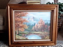 Gorgeous Vintage Art - Brownish/Goldish Wooden Framed Oil On Canvas in Orland Park, Illinois