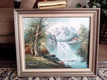 Gorgeous Vintage Natural Beauty Art - Gray Wooden Framed Oil On Canvas in Tinley Park, Illinois