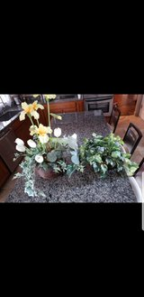 Two artificial table plants in Joliet, Illinois