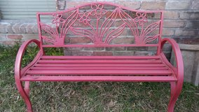 Metal bench in The Woodlands, Texas