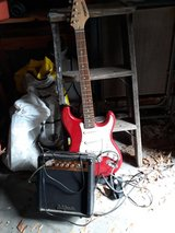 Fender starcaster guitar with small amp in The Woodlands, Texas