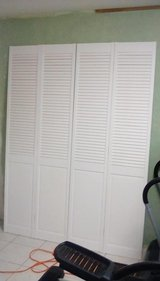 White Bifold Louvered Doors NEW (2) 30x80 in Joliet, Illinois