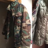 Men's medium, quilted, lined, cold weather, camouflage jacket in Naperville, Illinois