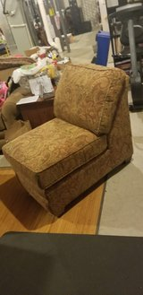 armless sofa chair, pillows and comforter in Aurora, Illinois