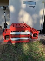 Pallet Picnic Table and 2 Benches in Ramstein, Germany