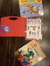 Carry case full of LEGO and 3 how to books in Okinawa, Japan