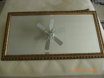 Vintage Baroque Carved Wood Gold Wall Frame with Beveled Mirror in Alamogordo, New Mexico