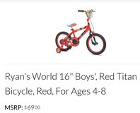 "For Sale: Ryan's World 16"" Boys Bicycle - Brand New in Leesville, Louisiana"