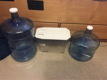 5 gal/3 gal water jars and water container in Okinawa, Japan