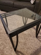 metal & glass end tables (set of 2) in Chicago, Illinois