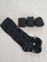 Under Armour (Summer Weight) Socks (Black), Five Pairs in Okinawa, Japan